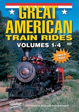 Great American Train Rides Vols 1-4 Combo DVD