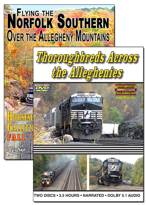 Flying the Norfolk Southern AND Thoroughbreds Across the Alleghenies SET DVD